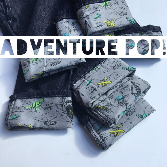 Stretch Indigo Jeans with Adventure Pop (TRAD)