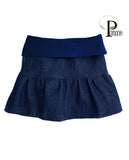 PreOrder! Ruffled Skirts in Deep Indigo 'Wash House' Denim (ECO)