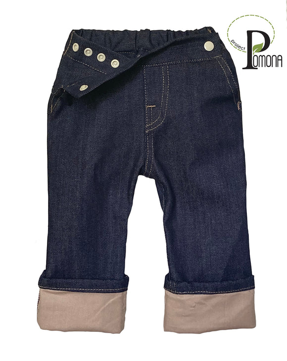 Project Pomona Stretch Indigo Denim with Khaki Cuff (ECO)