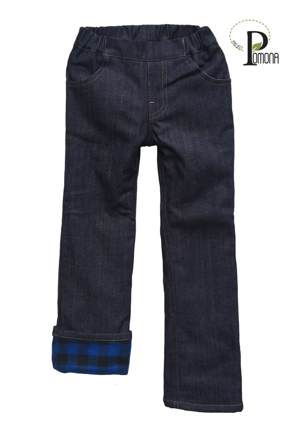 Project Pomona Flannel Lined Jeans in Stretch Waist