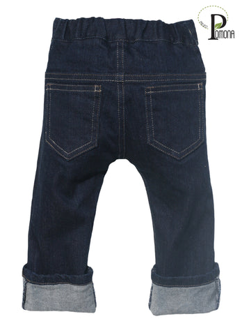 Project Pomona GOTS Organic Stretch Indigo Baby Jeans for Cloth Diapers