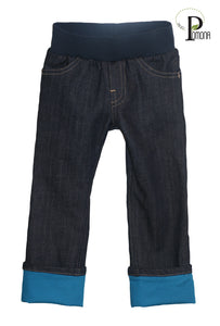 Pomona Jeans with Pacific Pool Cuffs (Stretch Waist)