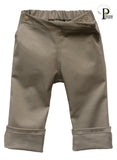 Stretch Twill Slacks in Sandy Khaki (ECO/TRAD)