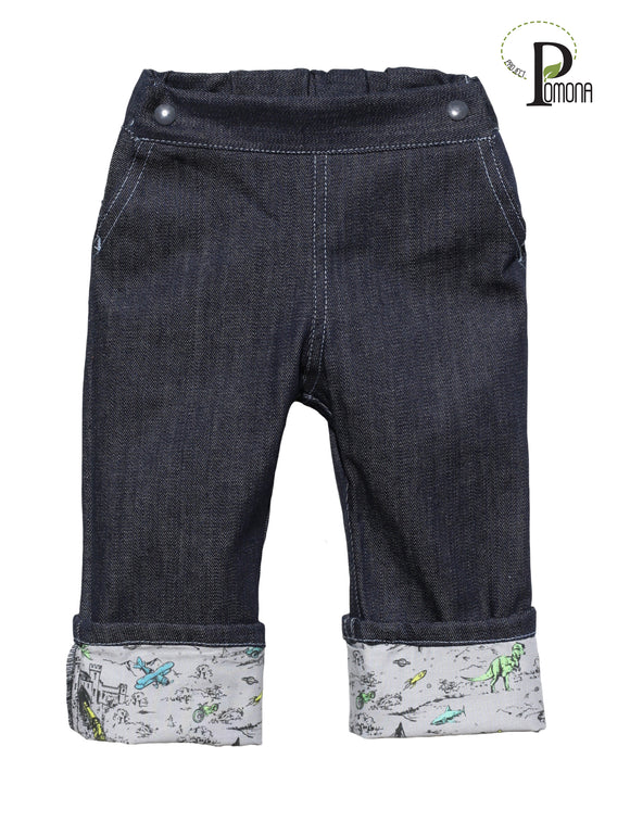 Stretch Indigo Jeans with Adventure Pop (ECO/TRAD)