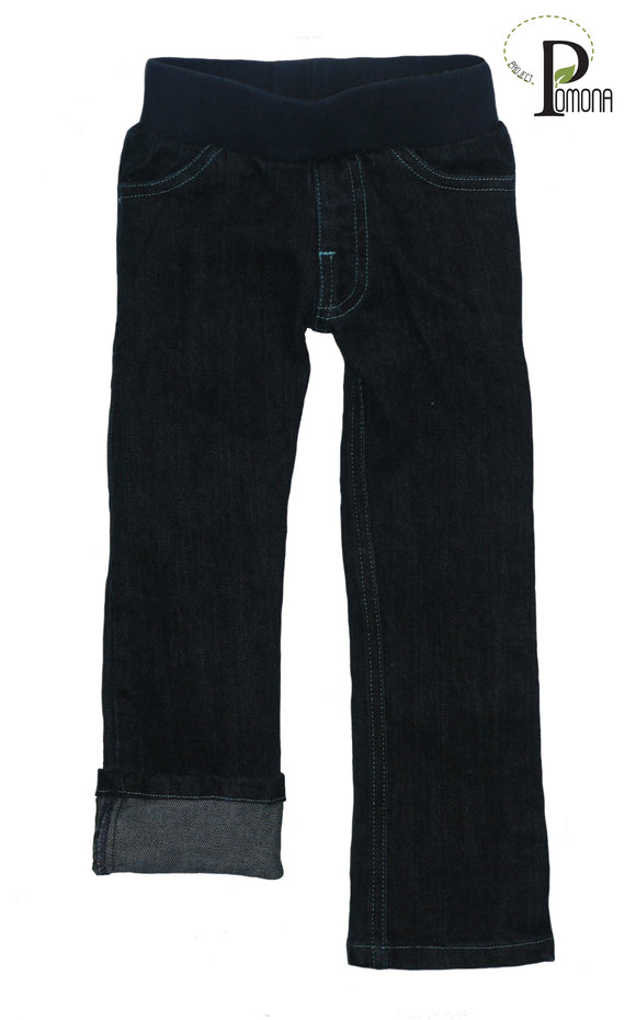 Stretch Waist Jeans in Stretch Indigo