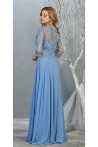 3/4 Sleeve Mother of the Bride Evening Gown - LA7820