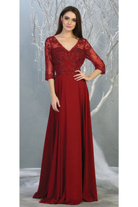 3/4 Sleeve Mother of the Bride Evening Gown - LA7820 -