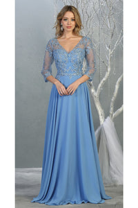 3/4 Sleeve Mother of the Bride Evening Gown - LA7820 - PERRY