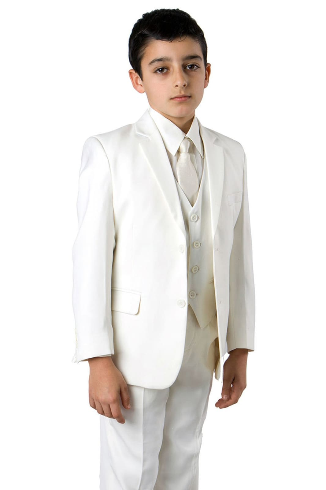 5 pc Boys Solid Christening Suit- LAB347SA - 05-OFF WHITE /