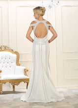 Load image into Gallery viewer, Modern Cold Shoulder Wedding Dress - RQ7614