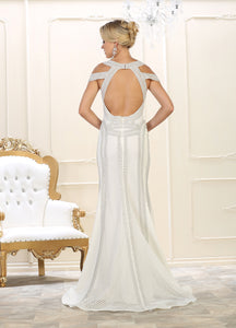 Modern Cold Shoulder Wedding Dress - RQ7614