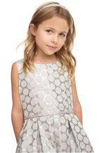 Load image into Gallery viewer, Metallic Polka Dot Girls Dress with Pockets - LAK849