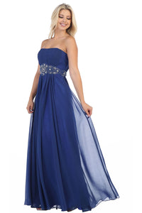 A Beautiful Strapless Chiffon Plus Size Dress - MQ635B