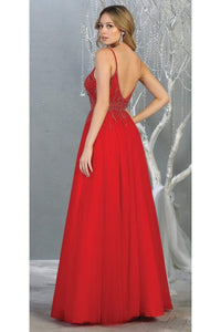 A-line Formal Evening Gown And Plus Size