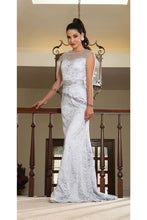 Load image into Gallery viewer, Cap sleeve full length lace dress- MQ1237