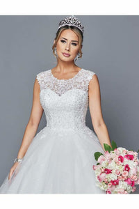 Elegant Wedding Dress With Beading Sequins Applique