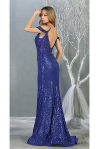 Fancy Off shoulder Formal Gown- LA7877