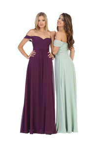 Off the Shoulder Bridesmaids Dress LA1711