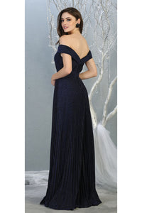 Ruched Off Shoulder Formal Gown - LA7876