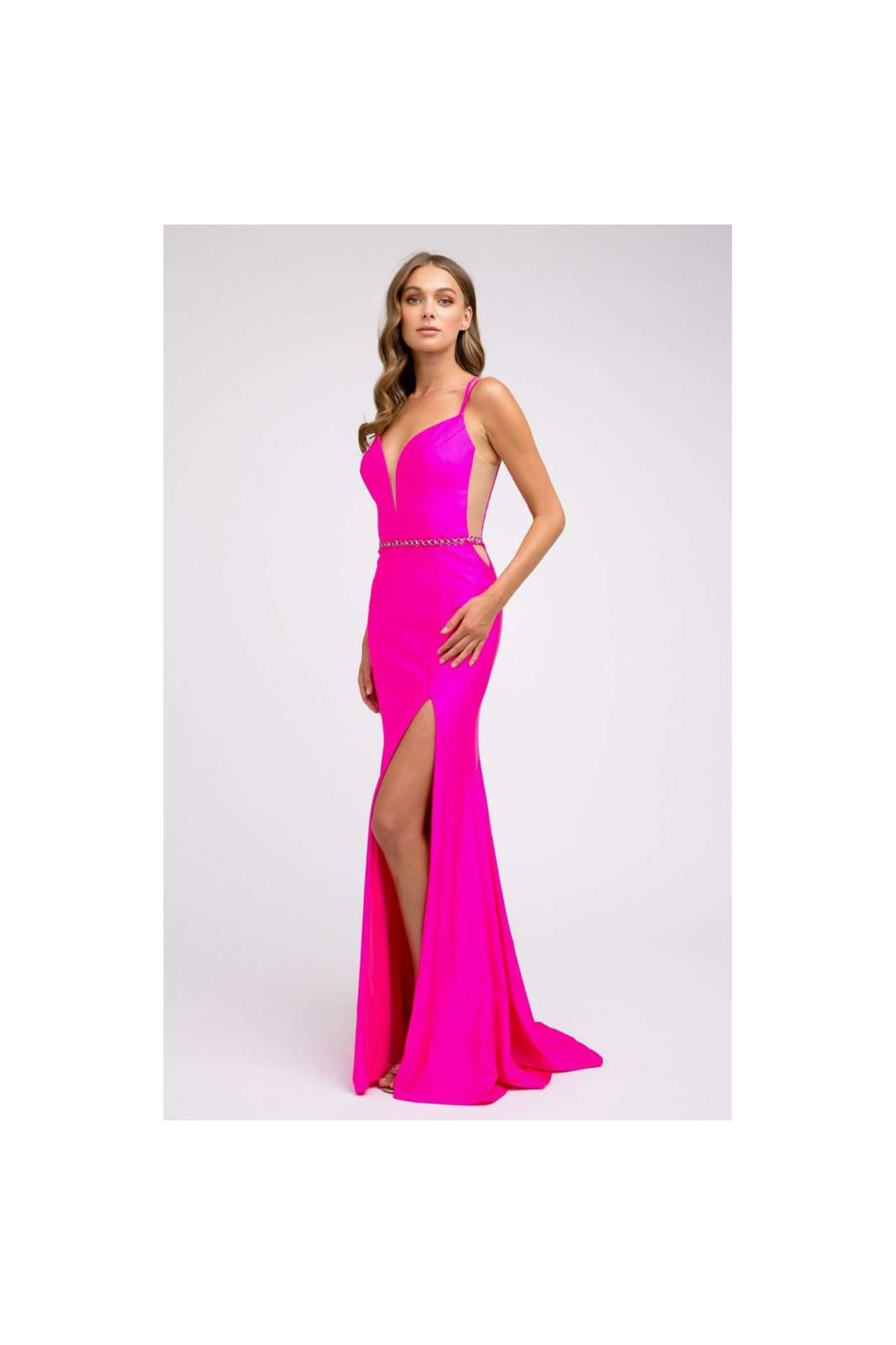 Sexy Bridesmaid Gown JT239 - Fuchsia / XS - Dress