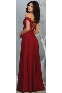 Sexy Off Shoulder Long Dress - LA1714