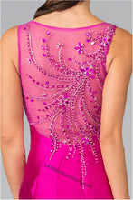 Load image into Gallery viewer, Sleeveless sequins mikado mermaid dress- GL2212
