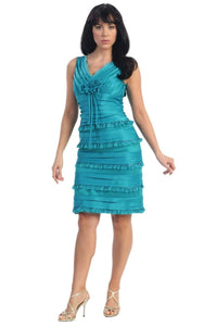 Sleeveless short dress for all occasions- MQ681