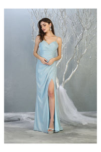 Spaghetti Strap Evening Dress LA1730 - Baby Blue / 4 - Dress