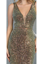 Load image into Gallery viewer, Special Occasion Sequined Dress And Plus Size