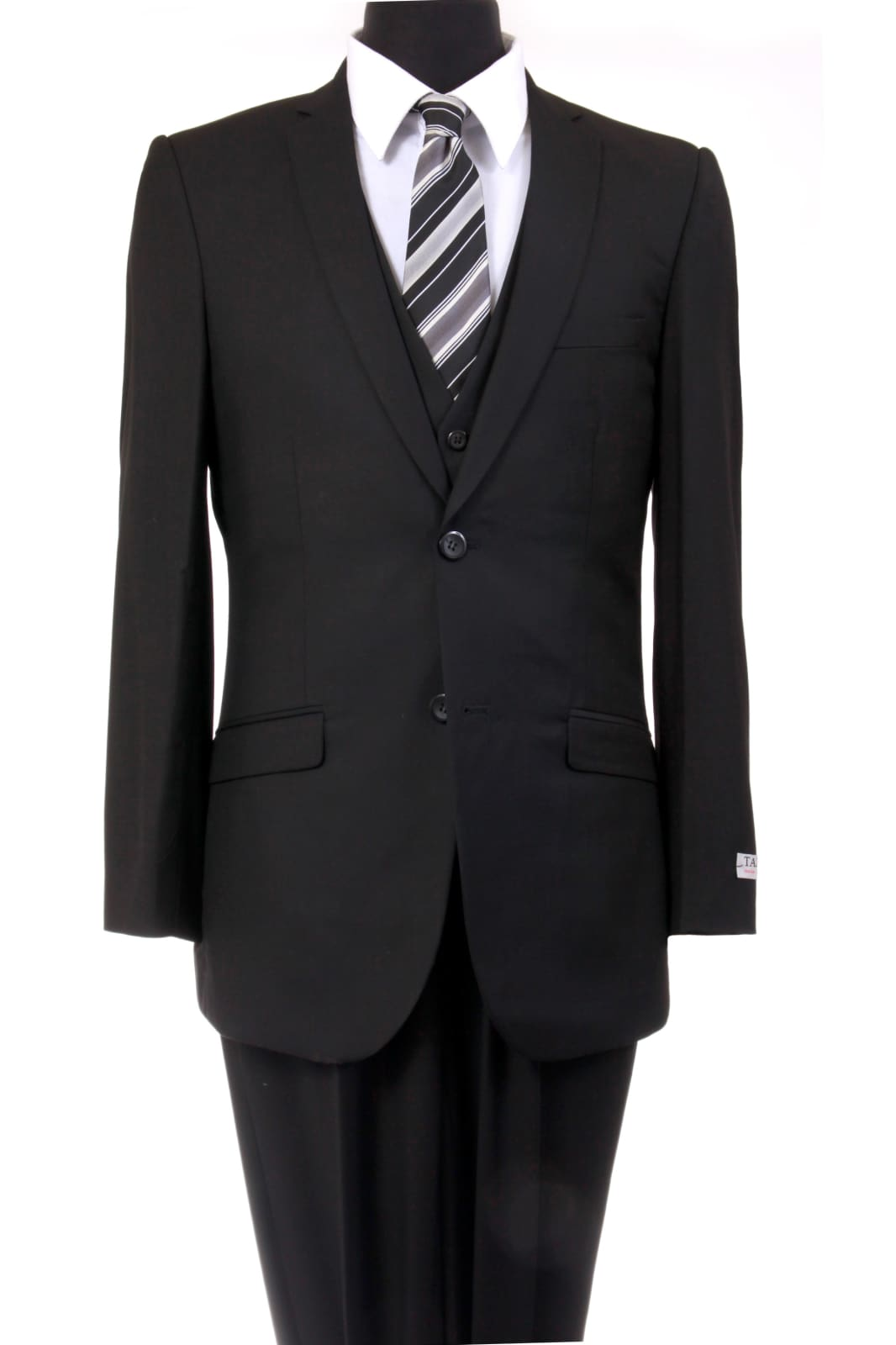 Ultra Slim Fit 3 Piece Men's Suit - LA154SA - BLACK /