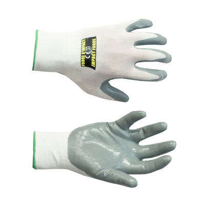 ANSI cut 1 Nitrile Grip Gloves, Style: Ruff