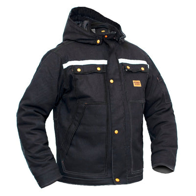 Men's Water Repellent Stain Oil Resistant Stretch Winter Jacket, Style: Igloo