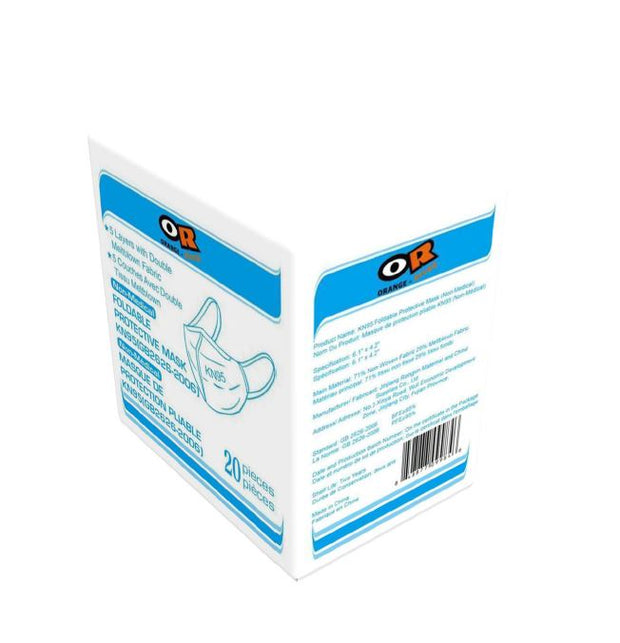 Orange River® KN95 Disposable Face Masks – 4 layers - 20/box seal Pack, Suggested Retail Price: $24.99