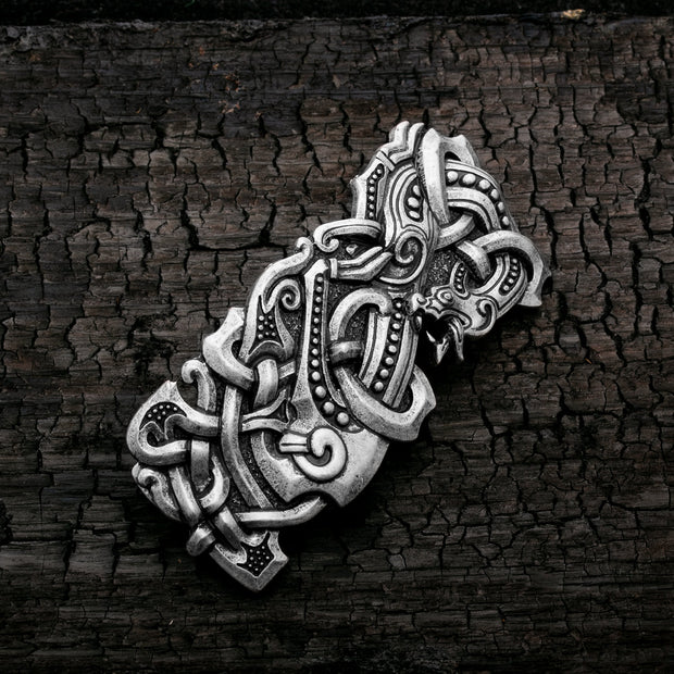 Viking Norse Celtic Dragon Knot Hair Barrette