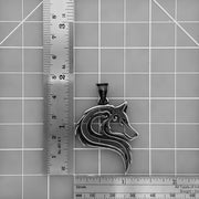 Viking Ancient Fenrir Wolf Head Stainless Steel Pendant Necklace