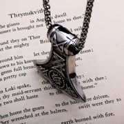 Viking Axe Stainless Steel Pendant Necklace