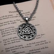 Viking Valknut Slain Warrior Knot Stainless Steel Pendant Necklace