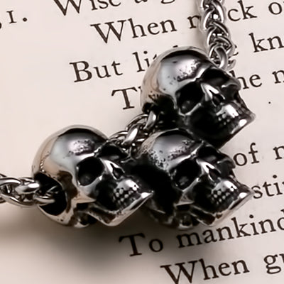 Viking Skulls of Your Enemies Stainless Steel Pendant Necklace
