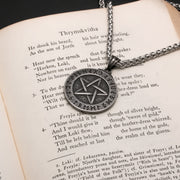Viking Pentagram Wiccan Elder Futhark Rune Stainless Steel Pendant Necklace