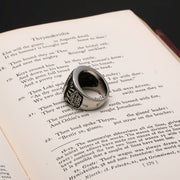 Viking Bear Paw Print Trinity Knot Ring