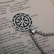 Viking Vegvisir Compass Ancient Stainless Steel Pendant Necklace