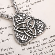 Viking Celtic Trinity Knot Rune Stainless Steel Pendant Necklace