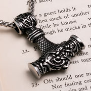 Viking Mjolnir Thor's Hammer Stainless Steel Pendant Necklace