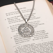 Viking Valknut Slain Warrior Knot Rune Stainless Steel Pendant Necklace