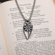 Viking Arrow Head Helm of Awe Stainless Steel Pendant Necklace