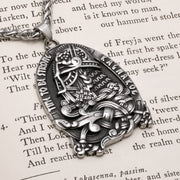 Viking Odin Time To Be Strong Stainless Steel Pendant Necklace