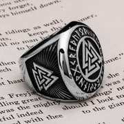 Viking Valknut Rune Ring