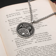 Viking Warrior Shield Stainless Steel Pendant Necklace