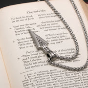 Viking Gungnir Stainless Steel Pendant Necklace