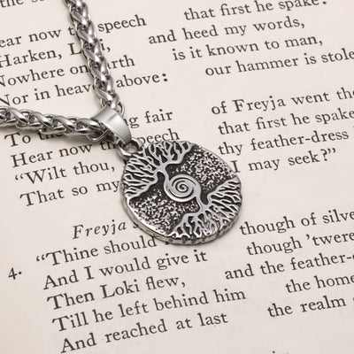 Viking Mini World Tree Stainless Steel Pendant Necklace